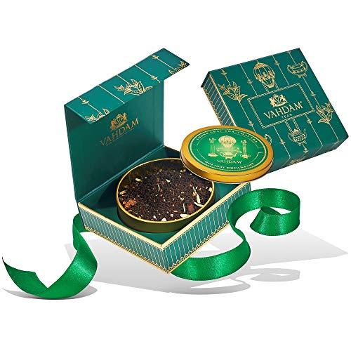 Colazione di Natale, Tè di Natale, Lattina per regali - Miscela speziata di tè nero con spezie festive - Cardamomo, cannella, chiodi di garofano e pepe nero - Tè per le feste natalizie perfett
