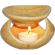 edivine Ancient Pot difusor de aroma/aceite esencial quemador/té luz vela titular/vela Tlight Essential quemador de aceite de cerámica difusor aromaterapia calentador # -1