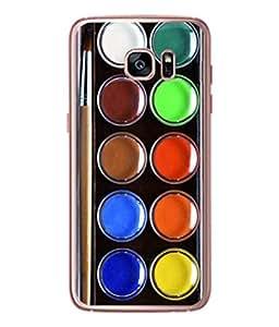 PrintVisa Designer Back Case Cover for Samsung Galaxy S7 :: Samsung Galaxy S7 Duos :: Samsung Galaxy S7 G930F G930 G930Fd (The Colours And Brush Design)