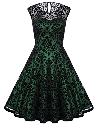 Belle Poque Abiti vintage in pizzo da cocktail anni 50 rockabilly BP278 BP278-3