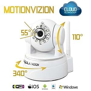 Aquila Vizion Motion Vizion Indoor Caméra IP sans fil Wi-Fi Blanc