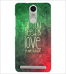 PrintDhaba Quote D-3472 Back Case Cover for LENOVO K5 NOTE (Multi-Coloured)