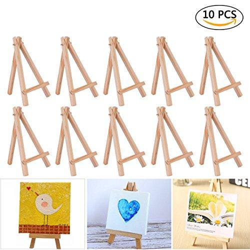 Youngrich 10pièces Mini Bois chevalets Artiste Triangle support de table ou porte Décoration téléphone...