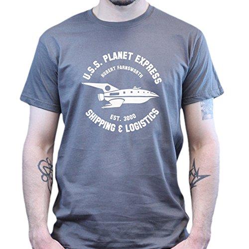 U.S.S Planet Ship Express Futurama T-shirt Dunkelgrau
