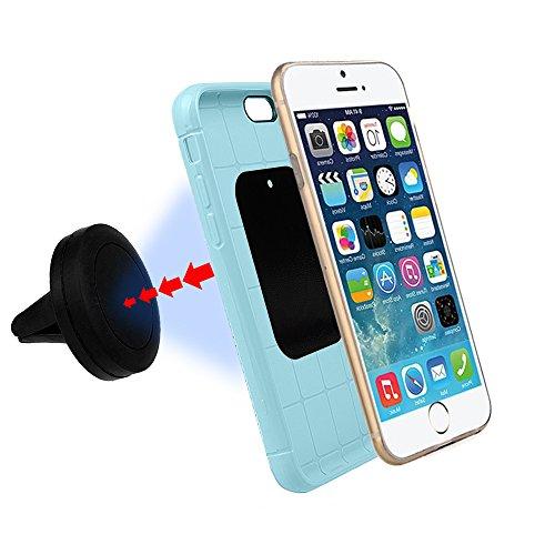 xhorizon MSH étui portefeuille en cuir anti-choc avec fonction stand avec logement de carte, coque de protection magnétique détachable Folio Flip Cover Case housse portefeuille pour iphone 6s CM1-Noir