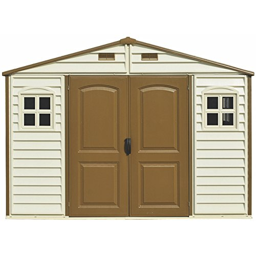 Duramax 30214-1 10 x 8 ft Wood Side Shed – Ivory/Brown