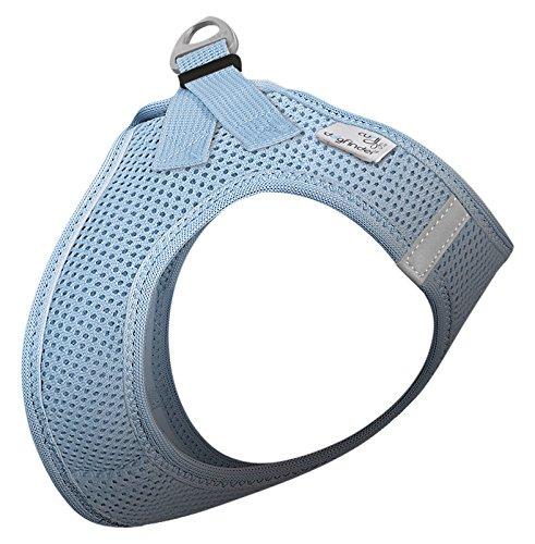 CURLI Brustgeschirr Plush Vest AIR-MESH skyblue für Hunde M (41 - 45 cm)