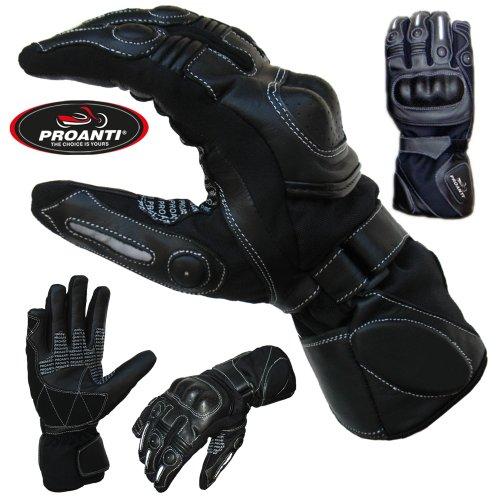 PROANTI Sommer Regen Motorradhandschuhe mit Visierwischer Motorrad Handschuhe - Größe XL