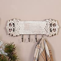 Dibor Shabby Chic Wall Mounted Coat Hooks, Perfect Housewarming Present or to Add Some Rustic Charm to Your Own Home H 13 x W 30 x D 4.5cm