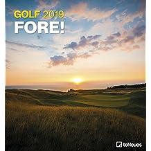 Golf 2019 - Golfkalender, Sportkalender, Landschaftskalender 2019 - 45 x 48 cm