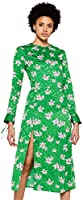 FIND Robe Mi-Longue Fendue Femme, Vert (Green), 38 (Taille fabricant: Small)