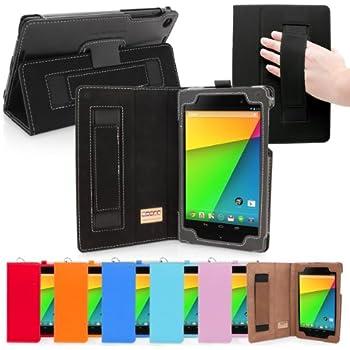 Nexus 7.2 Case, Snugg - Black Leather Smart Case Cover [Lifetime Guarantee] Google Nexus 7.2 Protective Flip Stand Cover with Auto Wake / Sleep