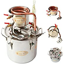 Home Distiller New 2 Gal 10 Litres Copper Alcohol Wine Moonshine Still Spirits Boiler Water Oil Whisky Brewing Kit