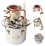 Home Distiller New 2 Gal 10 Litres Copper Alcohol Wine Moonshine Still Spirits Boiler Water Oil Whisky Brewing Kit