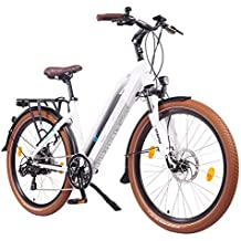 NCM Milano 26 Zoll Elektrofahrrad Herren/Damen Unisex Pedelec,E-Bike,Trekking Rad, 36V 250W 14Ah Lithium-Ionen-Akku mit PANASONIC Zellen, matt weiß