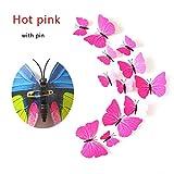 HKLCXMZ 12 Pcs 3D Papillon Réfrigérateur Aimant Autocollants pour La Chambre Halloween Décor De Fête De Noël Pin Papillons Rideau Stickers Muraux