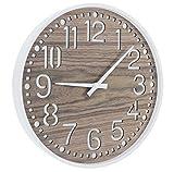SIDCO Wanduhr Holzoptik rustikal Wohnzimmeruhr Küchenuhr Uhr stylisch Deko