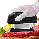 Fleisch-Tenderizer - Professionelles Kommerzielles Küchenwerkzeug mit 48 Klingen aus rostfreiem Stahl mit Rasiermesser
