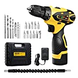 URCERI Cordless Electric Drill Kit 2000 mAh 16.8V Lithium-ion Battery 18+1 Keyless Clutch