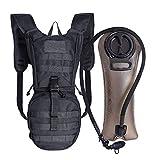 Unigear Trinkrucksack mit 2.5L Trinkblase, taktischer Hydration Rucksack, Fahrradrucksack, Hydrationspack, für Klettern Trekking Radfahren Bergsteigen Outdoor Sports...