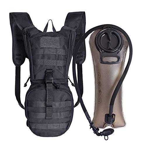 Unigear Trinkrucksack mit 2.5L Trinkblase, taktischer Hydration Rucksack, Fahrradrucksack, Hydrationspack, für Klettern Trekking Radfahren Bergsteigen Outdoor Sports (Schwarz+2.5L Trinkblase) -