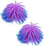 2 x Silicone Aquarium Fish Tank Coral Ornament Decoration--Purple