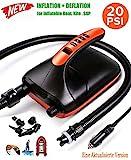 HUWAI Pompe À Sup Pompe à air électrique, 20 PSI Digital Dual Stage Rechargeable...