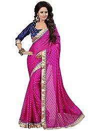 Regalia Ethnic Viscose Saree (Re5007_Dark Pink)