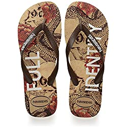 Havaianas Top Tropical, Chanclas para Unisex Adulto, Multicolor (Beige/Brown), 45/46 EU (43/44 Brazilian)