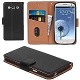 Aicoco Galaxy S3 Hülle Schutzhülle Tasche Flip Case für Samsung Galaxy S3 Handyhülle - Schwarz