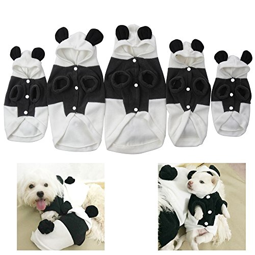 yunt Cute Fleece Pet Hund Panda Kleidung Puppy Hoodie Warm Coat Doggy Katze, Apparel (Kostüme Panda Cute)