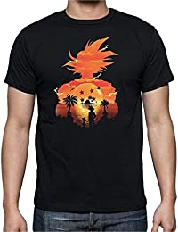 Camiseta de Hombre Dragon Ball Son Goku Anime Vegeta Piccolo Akira Toriyama