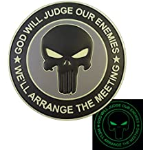 ACU GOD WILL JUDGE OUR ENEMIES Glow Dark Punisher DEVGRU Marine Navy Seals PVC Hook-and-Loop Écusson Patch