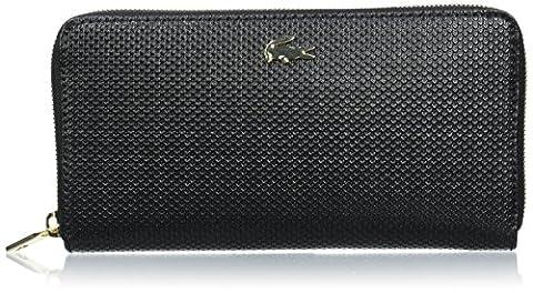 Lacoste Pochette - Lacoste NF2070CE, Portefeuille Femme, Black, 10.5 x