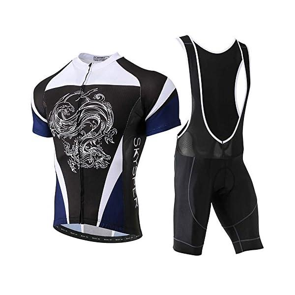 Catena Abbigliamento Ciclismo Maglia da Uomo Manica Corta per Bici Asciugatura Rapida Traspirante Cycling Jersey Estivo