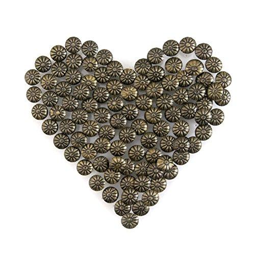 Yasorn Polsterung Ziernägel Vintage DIY Dekorative Möbel Nagel Blumenmuster Kopf (Bronze, 11x14 mm,Satz von 100 Stück) (Gold-bett-satz)