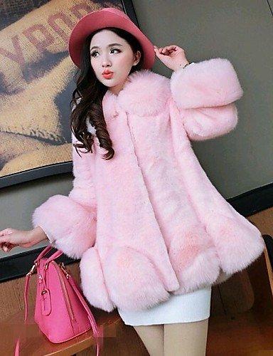 Xuanku Women Faux Fur Top , Lined