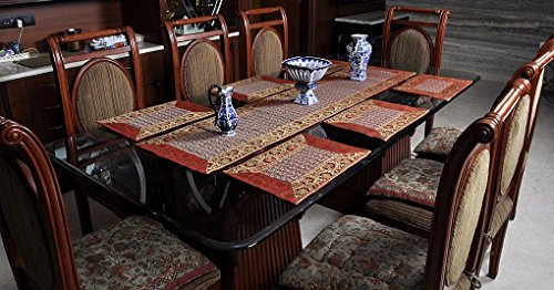 Ethnic Table Runner With Table Mats Set Of 6