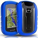 TUSITA Cas pour Garmin eTrex Touch 25 35 35t - Housse de Protection en Silicone Peau - Navigateur GPS Portable Accessoires (Bleu)