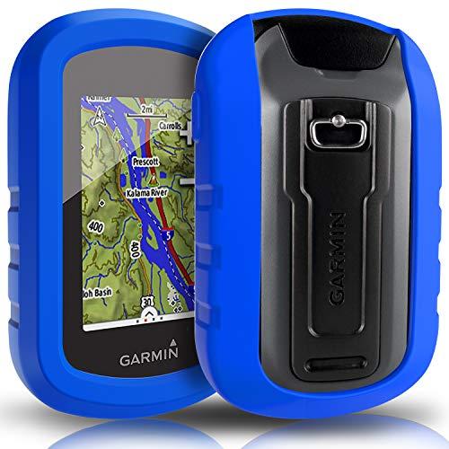 TUSITA hülle für Garmin eTrex Touch 25 35 35t - Silikon Schutzhülle Skin - Handheld GPS Navigator Zubehör (BLAU) Etrex Fall