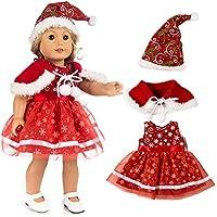 Vovotrade Weihnachten Kleidung Kleid Hut für 18 Zoll American Boy Puppe Zubehör Mädchen Spielzeug