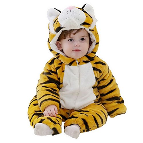Flying Hedwig Baby Tier Strampler Kostüm Outfits Overall Oberbekleidung Winter Flanell mit Kapuze (Baby Butt Kostüm)