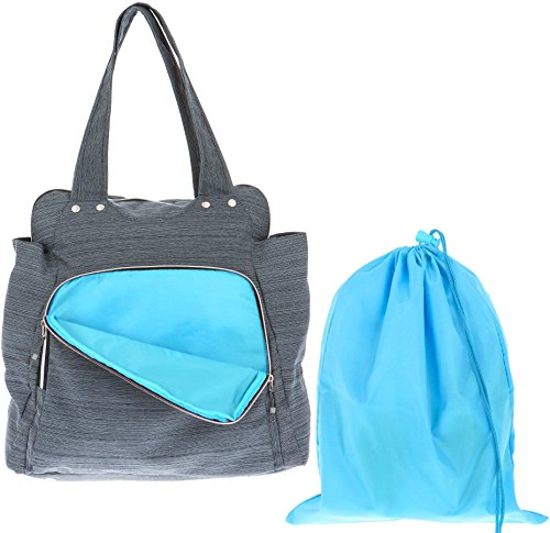 Alessandro Shopper Sporttasche XL WORKOUT BAG Gym Bag 12315 (Grau (Innen: Türkis))