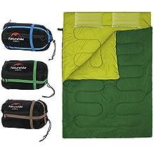 Saco de Dormir Portátil para 2 Personas Bolsa de Dormir de 4 Estaciones con Almohada para