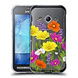 Head Case Designs Cosmos Rosen Und Wildblumen Soft Gel Hülle für Samsung Galaxy Xcover 3