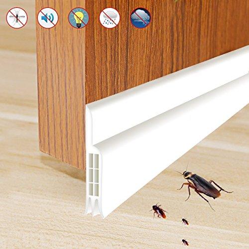 Tür-boden-dichtung (Rantizon Zugluftstopper für Türen Türdichtung Dichtungsstreifen, Tür-Boden-Dichtungs-Streifen für Türen Schalldichtung Warme und Kälte Blocker Staubdichtung Wetterfest Fensterdichtung)