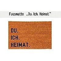 DU. ICH. HEIMAT. Kokos-Fußmatte Fußabtreter Teppich 40x60 cm Geschenkidee Einzug Geburtstag