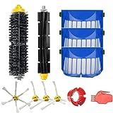 Amoy Bürsten und Filter Kit für iRobot Roomba 600 Serie 650 6530 620 615 605 Roboter-Staubsauger Ersatzteile