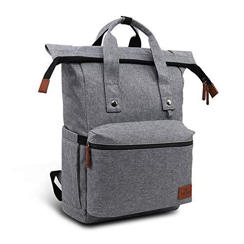 Hafmall Wickelrucksack faltbare und wasserdichte Wickeltasche mit großem Fassungsvermögen, Dekompressions- und atmungsaktiver Reiserucksack für Mama und Papa -