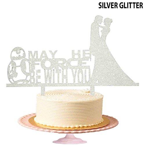 th You mit Starwar Deco Hochzeit Tortenaufsatz, Acryl Kuchen Topper in Schwarz (Happy Birthday Iron Man)